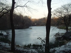 Central Park pond in winter (oldeastsidr) Tags: nyc newyorkcity winter lake centralpark manhattan 59thstreet
