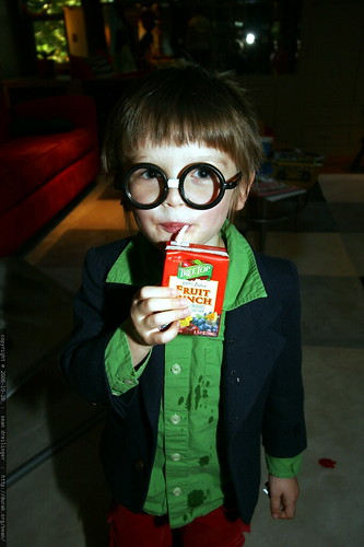 Harry Potter and his juice box