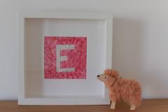 Quadro  Frame (Canela Cheia) Tags: e iniciais artesanato crianças decoration decoração frame girl handmade initials kids menina patchwork pink quadro quarto retalhos room rosa