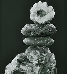 B&W Balance (Mawddach Pictures) Tags: blackandwhite blackbackground balance balanced agate geode