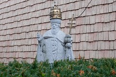 Crown and cross (pburka) Tags: christian orthodox religious icon statue crown cross shingles queens nyc astoria hedge stone sculpture