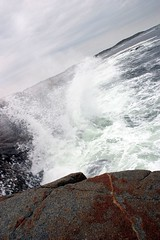 Rock 'n' spray - Peggy's Cove (slyphotoguy) Tags: sea water rock rocks waves wave spray ocen blus