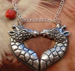 (~aorta~) Tags: silver necklace kiss heart giraffe etsy aorta