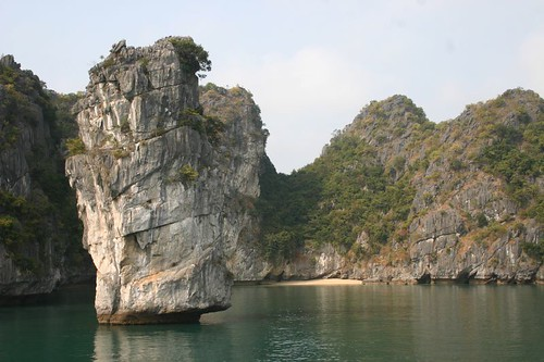 Halong Bay rocky islands...