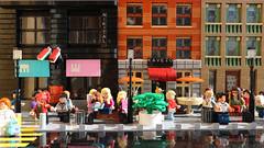 Budapest morning street (FrostNovejkee) Tags: city street cafe shop minifigures life minifig civilian peaceful