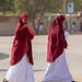 Somali teenage girls students in the street, Togdheer region, Burao, Somaliland
