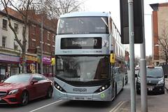 2018 04 06_7391 (djp3000) Tags: bus biogasbus doubledeckerbus transit publictransit publictransport enviro400 eviro400cbg nct nct17 nctbrownline17 nottinghamcitytransport brown 17 431 nctno431