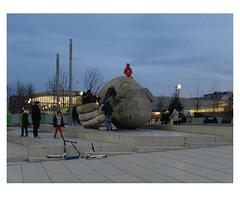 [ B L E U  /  B L A N C  /  R O U G E ] (michelle@c) Tags: urban cityscape city children playing dusk sculpture lecoute sandstone sculptor henridemiller 1986 place renécassin canopy leshalles troiscouleurs blue white red blau weiss rot cinematographic tribute mmmkk parisi 2018 michellecourteau