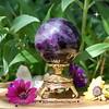 Purple Fluorite Crystal Ball (JG Beaded Jewelry) Tags: fluorite rainbowfluorite crystals crystalball crystalsphere sphere rocks