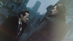 One moment of privacy. Please. (Anna_Mai) Tags: sherlock moriarty sheriarty sherlockholmes jimmoriarty actionfigures onesixthscale poptoys bigchiefstudios benedictcumberbatch andrewscott