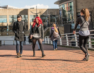 Millenium Bridge People Salford.