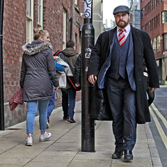 Every girls crazy 'bout a (Mick Steff) Tags: sharp dressed man urban street manchester suit 3 three pice hat waistcoat dapper suave cap peaky blinder people