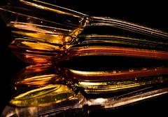 Measuring spoon (Tomo M) Tags: plastic macromondays macro utensil cookware mesure reflection light clear transparent yellow orange beautiful image hmm have great day