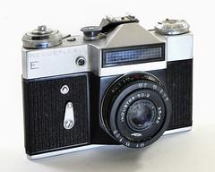 Foto Quelle, Revueflex E (Allemagne, 1968 - >1976) (Cletus Awreetus) Tags: appareilphotographique camera revueflexe fotoquelle vintage reflex slr objectif lens industar industar502