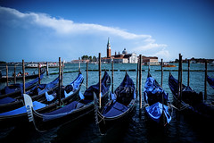 Venice - A Classic View (tjreboot) Tags: black white silhouette contrast venezia venice italy boat gondola people transport tradition folklore traditional light reflection gloom dark holiday holidays vacation