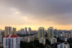 Sunset over Singapore (D. R. Hill Photography) Tags: singapore city urban architecture asia southeastasia sunset clouds sky skyline cityscape travel fuji fujifilm fujifilmx100t fujix100t x100t