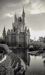 Cinderella's Castle (Thanks for over 2 million views!!) Tags: chadsparkesphotography centralflorida canoneosrebelt5 cinderellascastle magickingdom blackandwhite water waltdisneyworld wdw disney disneyworld