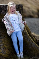 Natural portrait (PerfectCaptureNI) Tags: portrait child girl bokeh canon cute naturallight nature outdoors light hair coat countyantrim ulster northenireland ireland glenariff tree color