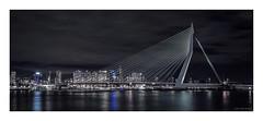Rotterdam - Erasmusbrug III (Passie13(Ines van Megen-Thijssen)) Tags: rotterdam erasmusbrug bridge brug bruecke netherlands night nightscape city cityscape canon sigma35mmart inesvanmegen cinematic inesvanmegenthijssen