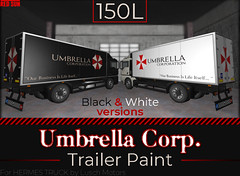 Umbrella Corpo. re-texture on Hermes Trailer (cuuka) Tags: secondlife cuuka red sun resident evil umbrella corporation company virus textures paint paintings shop sell 150 lindens hermes truck trailer