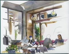 Midi Modi cafe (bogema) Tags: watercolor watercolour sketch cafe georgian saintpetersburg санктпетербург некрасова восстания кафе скетч миди моди midi modi
