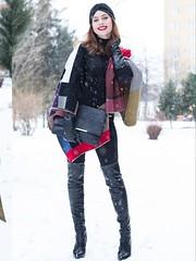 AC36F21C-42D2-49D0-9817-0939BA9A00D3 (devdas5z1) Tags: gloves leather black boots thigh high winter snow