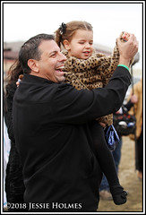 Mike Repole Celebrates (Spruceton Spook) Tags: horseracing horses aqueduct vinorosso mikerepole celebration celebrate woodmemorial fatheranddaughter daddyanddaughter yay