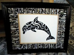 dolphinN1 (Mischandler) Tags: mischa print dolphin silhouette abstract pictures frames crafts crafting rolledpaper magazines mats projects photo display tubes rolls glue colorful tribal swirls
