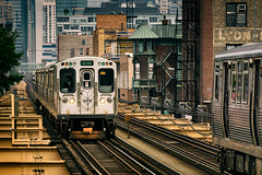 Journeys in the Urban Jungle (Carl's Captures) Tags: eltrain cta chicagotransitauthority ltrain masstransit publictransportation commutertrain elevated chicagoillinois urban cityofchicago thewindycity chitown cookcounty passing trains carriages greenline train606 5076 morganlakestation nearwestside architecture cityscape landscape crowded congested inbound outbound eastbound westbound lakestreet fireescape neighborhood diminishinglines vanishingpoint urbanjungle iron staircases bricks summer june windows corridor packed tight narrow passageway rightofway carpentersaddition headlights nikond7500 sigma18300 photoshopbyfehlfarben thanksbinexo