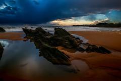 Le Pouldu (Faouic) Tags: bretagne france finistère lepouldu plage coucherdesoleil nuage rocher