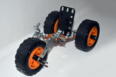 Meccano Tricycle (Burnt Pineapple Productions) Tags: car race racing nuts nut bolt bolts mechanical engineering engineer lego meccano build building child play