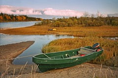 Fall in Cree country #2 (ValterB) Tags: valterb valter view village canada colour colors cloud clouds blue bright beach boat beautiful shadow sky scenic fall field skyline cree james bay quebec green la landscape river trip travel scenictravel wood water tree forest