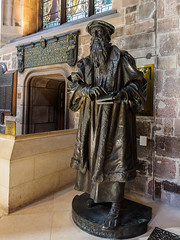 St Giles Cathedral - John Knox Statue (Joey Hinton) Tags: olympus omd em1 1240mm scotland edinburgh united kingdom mft m43 microfourthirds st giles cathedral church high kirk f28 john knox statue