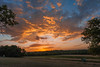 One Morning Sunset Series 3 (thefisch1) Tags: sunrise sunset sky color colorful grass crop tree orange blue pink clouds intense