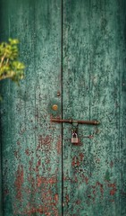 Sin Crouches at the door. BUT, so does Jesus, who stands knocking. We choose, who visits us. (J316) Tags: prayer faith jesus door knock peel paint green brown lock latch texture rustic unesco penang georgetown malaysia j316 a77 sony free
