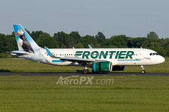 Frontier Airlines Airbus A320-251N - N322FR (AeroPX) Tags: aeropx airbusa320 airbusa320neo animals atlanticpuffin birds captainthepuffin caryliao ewing fraterculaarctica frontierairlines kttn n322fr nj newjersey projectpuffin ttn trentonmercercountyairport httpaeropxcom httpcaryliaocom puffins seabird
