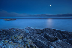 Seascape Blue-02 (B.Ferngren) Tags: archipelago balticsea beach bill coast coastline color horizon moon naturereserve night nynäshamn ocean rocks scenic sea seascape sky stones torö view bluehour ferngren landscape longtimeexposure summer sweden