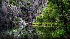 The Quarry (Einir Wyn Leigh) Tags: landscape quarry contrast lake slate industry wales water reflection history