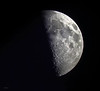 The biggest mirror (Robyn Hooz) Tags: moon cielo sky craters padova zoom quarter luce astronomy maria sea