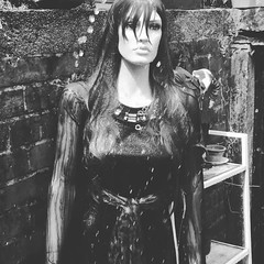 She singing in the rain (JAMES @ studio 136) Tags: mannequin wet rain hose doll water outside video backwater woman strong northwest england redbrick shortclip night