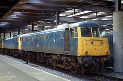 81019 at Euston on 20 Jun 87. (John_Hales) Tags: 81019 networksoutheast class81 networkrail railway rail train trains electric
