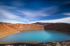 Blue eye (Sizun Eye) Tags: viti crater lake volcan volcano krafla myvatn iceland sizuneye nikond750 nikkor1424mmf28 1424mm nisifilters leefilters le longexposure poselongue islande cratère eye blue