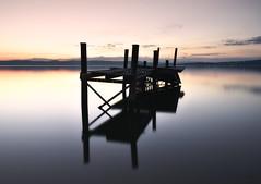 Centered (thobiasphoto.myportfolio.com) Tags: norway summer night longexposure mjøsa lake horizon sunlight dreamyvelvetycolours serenity
