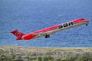 SBA Airlines, MD83, YV481T, TNCC, 26JUN2016