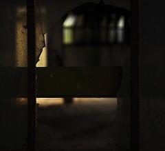 (Nick White2009) Tags: window broken farm barn hampshire england britain uk dirty building view light dark rustic old ruin decay