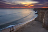 Davenport old Pier Beach (Juan Pablo J.) Tags: sunset sundown sunsetmadness outdoors ocaso ocean outdoor california clouds canon5dmkii canon24105mmf4l color coastline coast seascape seashore cliff