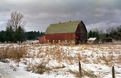 "Barn (""Photo Guy"") Tags: 35mmcolourfilm barnsandoldbuildings dgfilm200 landscape rollei35t winterlandscape"