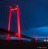 Bridge in red (www.petje-fotografie.nl) Tags: ptjefotografie rhein rijn duitsland germany brug rood donker bluehour