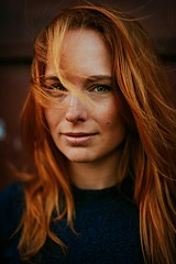 Radka (James Green Imaging) Tags: red hair blue redhair longhair portrait colourportrait headshot beauty beautiful czech model eyes
