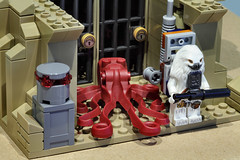 Lego Star Wars Partisan base Bor Gullet with jail cells (graeme.watson) Tags: lego star wars saw gerreras hideout moc rogue one the catacombs cadera jeddah